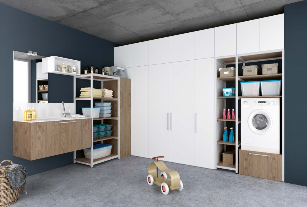 Mobili ripostiglio archives non solo mobili cucina - Lavatrice in bagno soluzioni ...