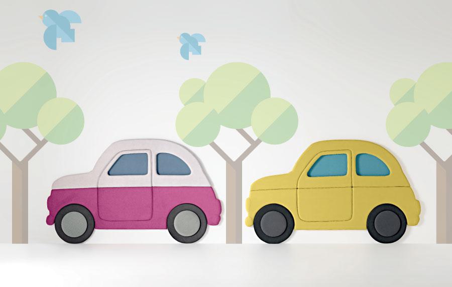 pannelli imbottiti per cameretta con diversi colori