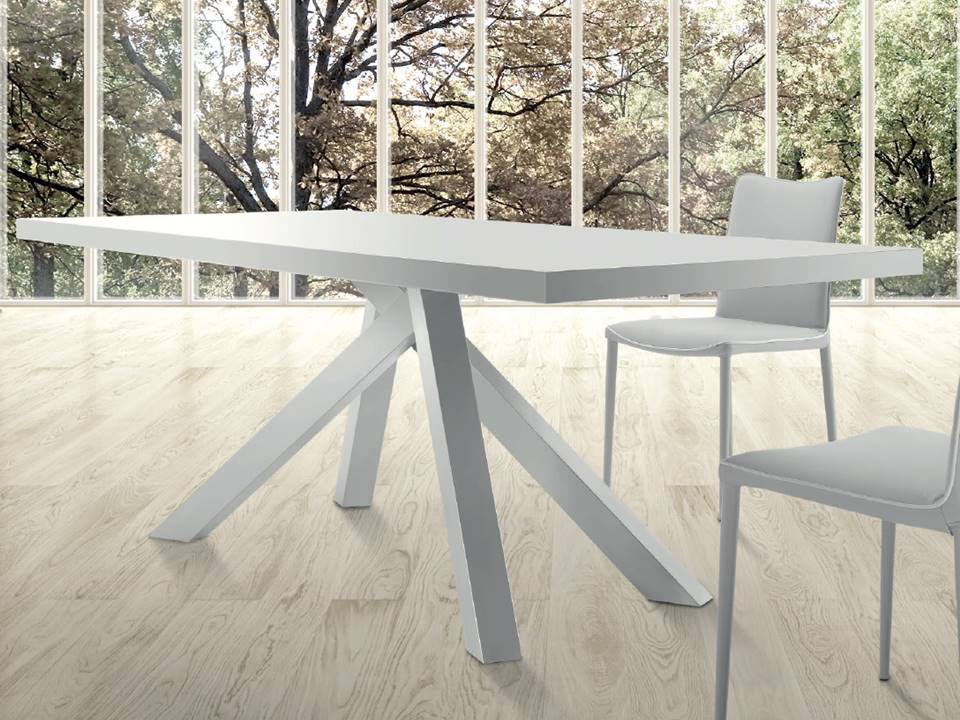Tavolo gambe shangai piano bianco