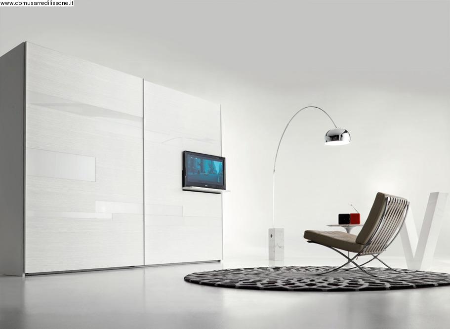 armadio scorrevole con porta tv da domusa arredi lissone