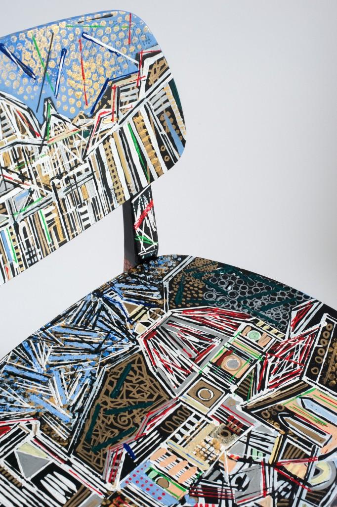 dipinto di Ben Mosley su Sedia Doll Novamobili