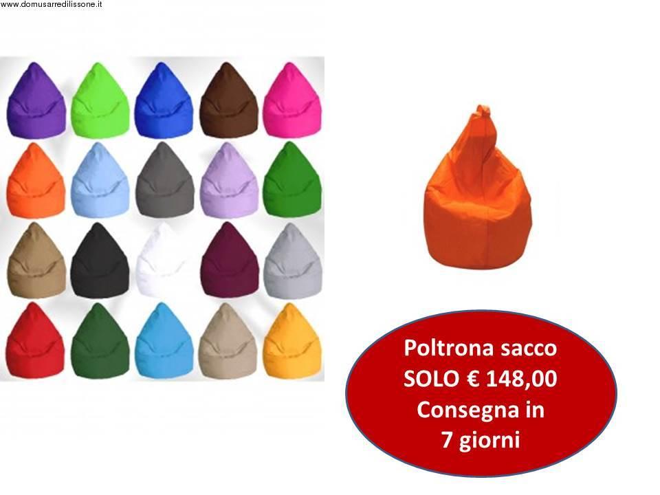 poltrona sacco colorata in ecopelle prezzo scontato