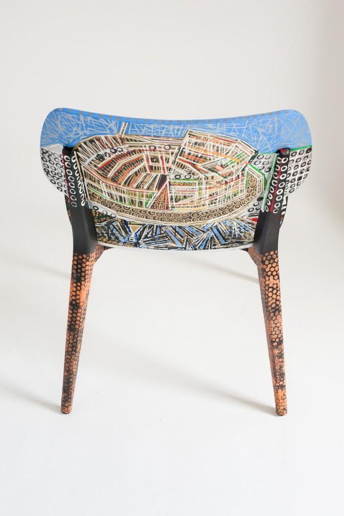 sedia Doll Novamobili dipinta da Ben Mosley