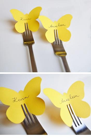 segnaposto farfalla per la tavola di pasqua