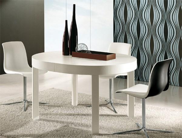 tavolo zed riflessi allungabile in rovere bianco