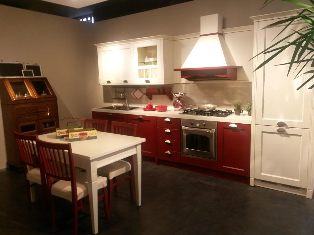 Gretha Veneta cucine rosso tulipano