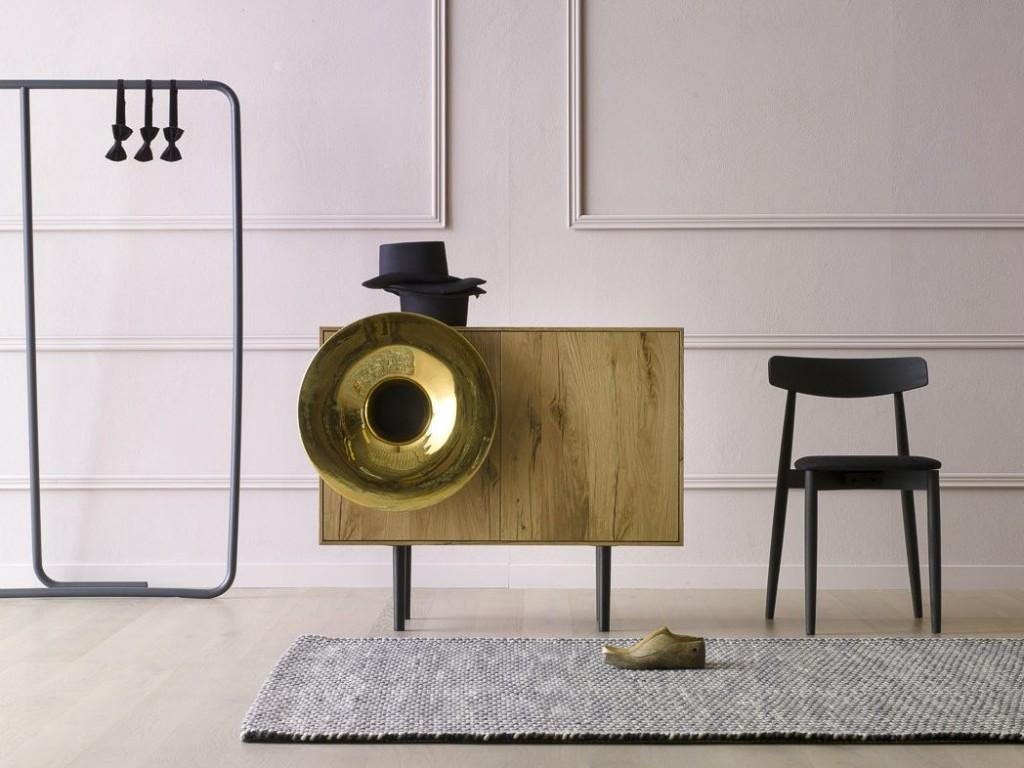 madia in legno Caruso Miniforms con cassa audio