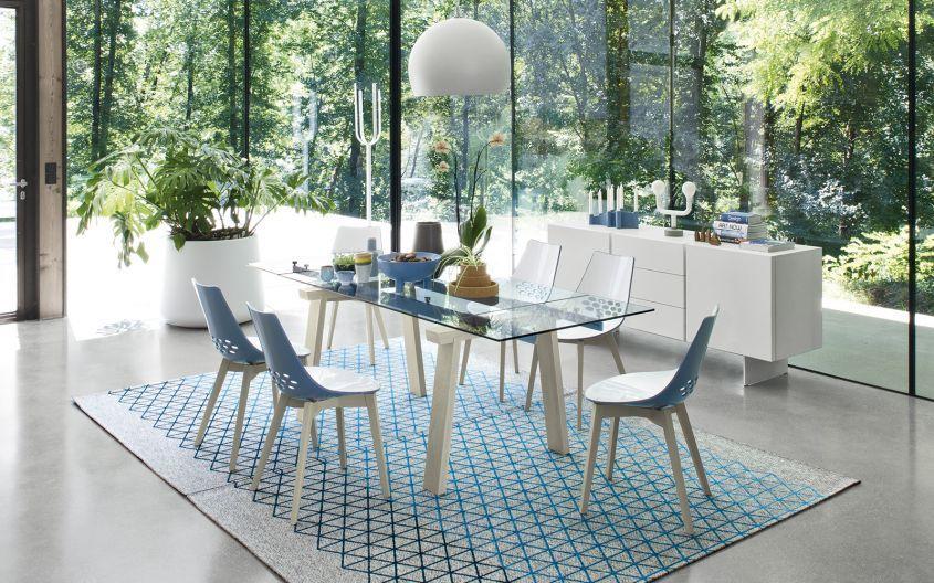 tavolo Levante Calligaris vetro