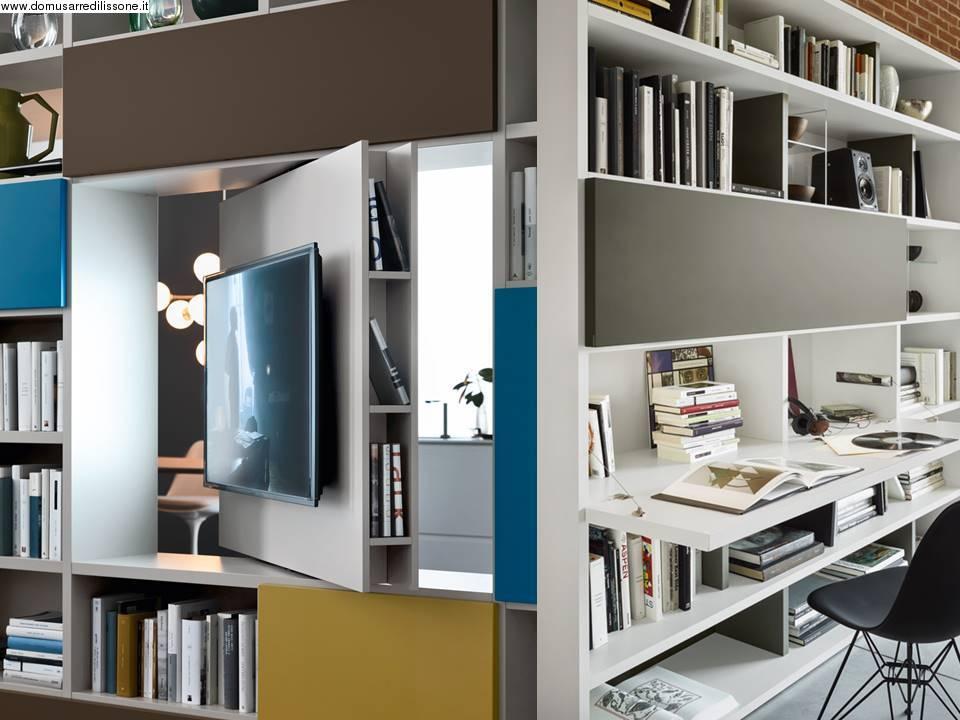 Libreria con porta tv archives non solo mobili cucina - Mobile con scrivania ...