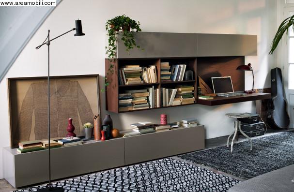 libreria moderna con scrittoio