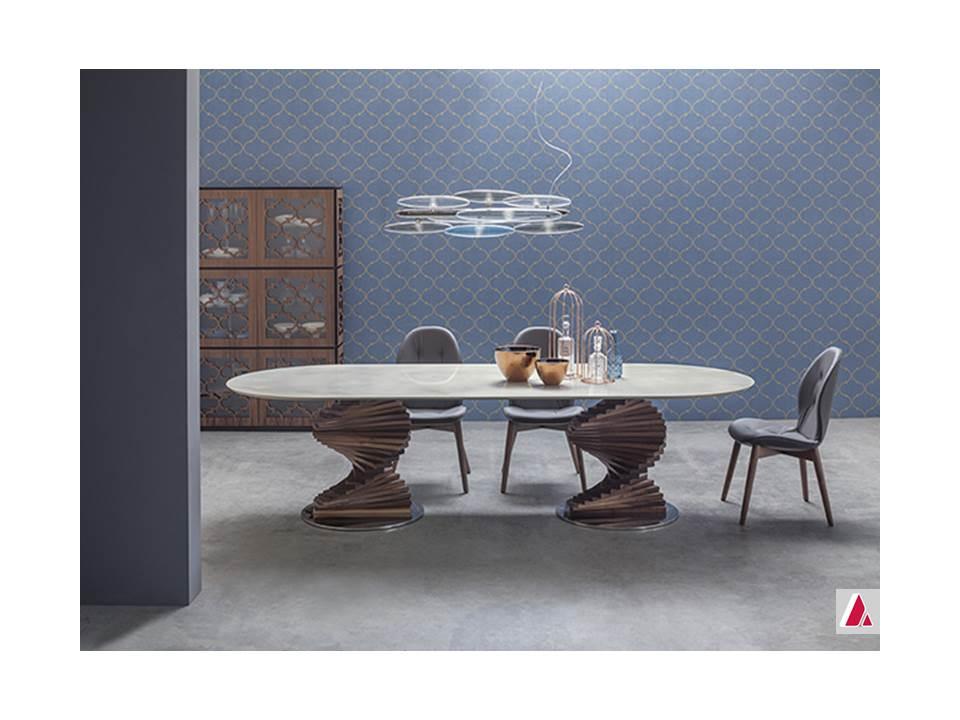 tavolo big firenze tonin casa base legno massello piano vetro