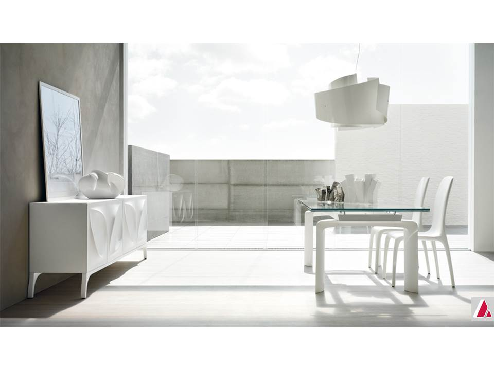 tavolo bridge tonin casa piano vetro allungabile