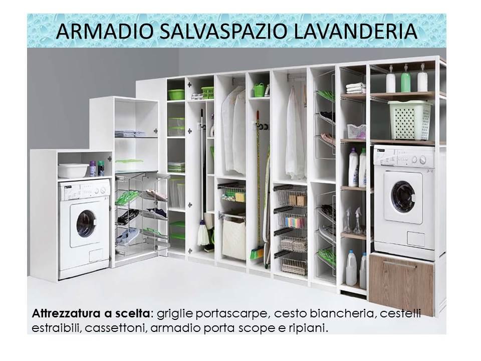 armadio salvaspazio lavanderia
