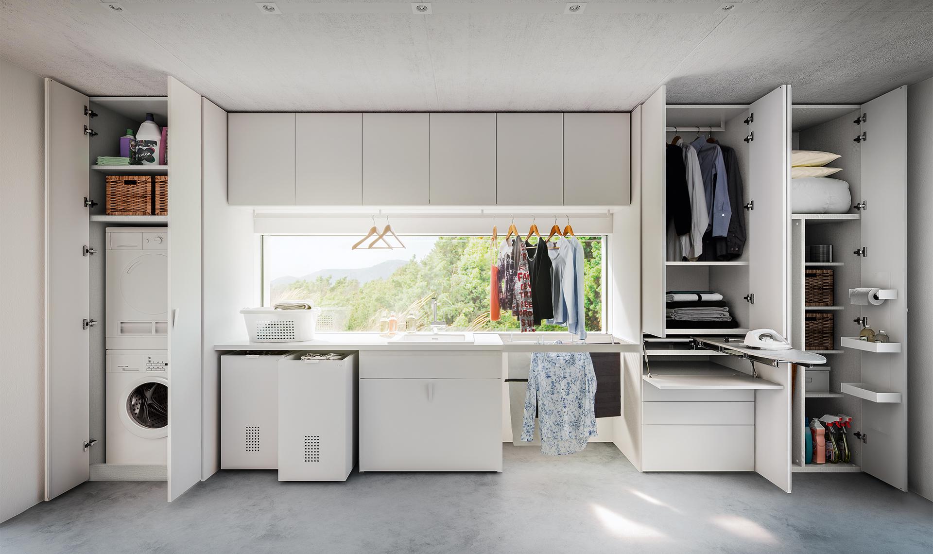 Armadio guardaroba e lavanderia proposte da domus arredi for Arredamento casa con la a