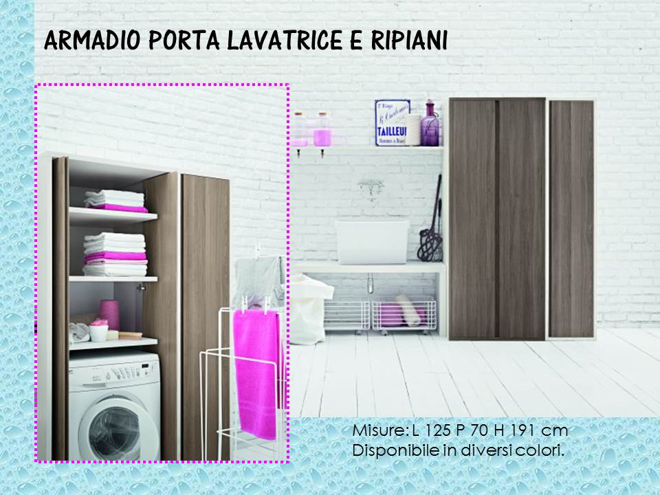 Idee arredo salvaspazio - Mobile porta lavatrice ...