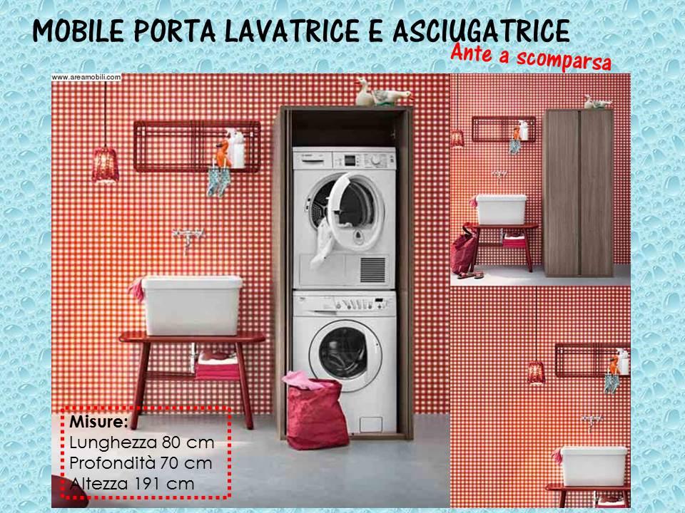 mobile porta lavatrice e asciugatrice ante a scomparsa