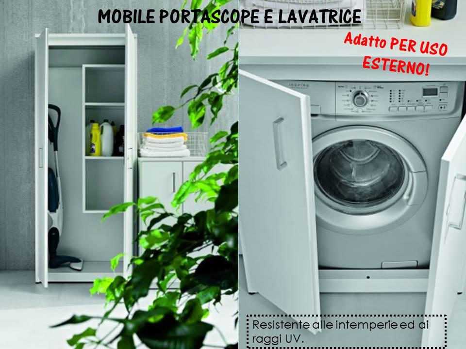 mobile porta lavatrice ed asciugatrice uso esterno