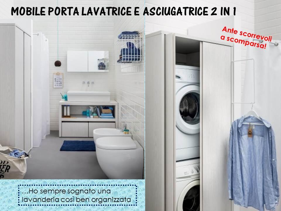 Idee arredo salvaspazio - Mobile lavatrice asciugatrice ...