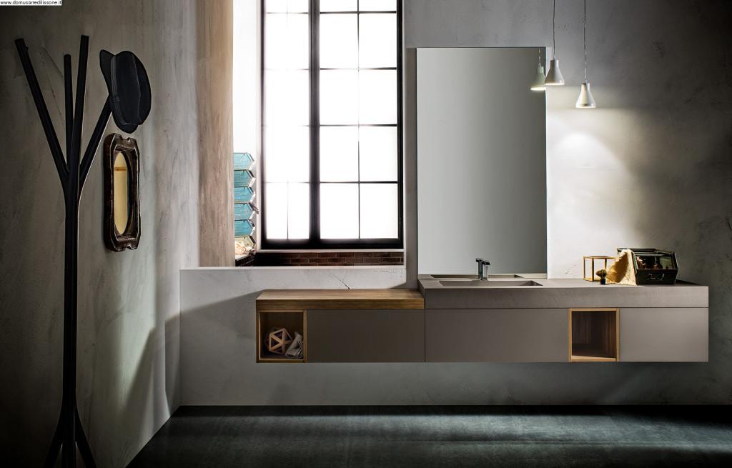 bagno cerasa sospesa con vasca integrata