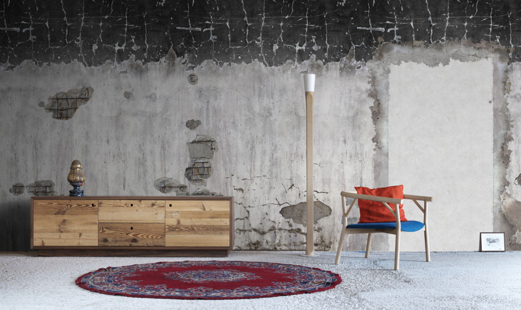 Arredamento shabby chic industrial e urban chic for Carta parati mattoni