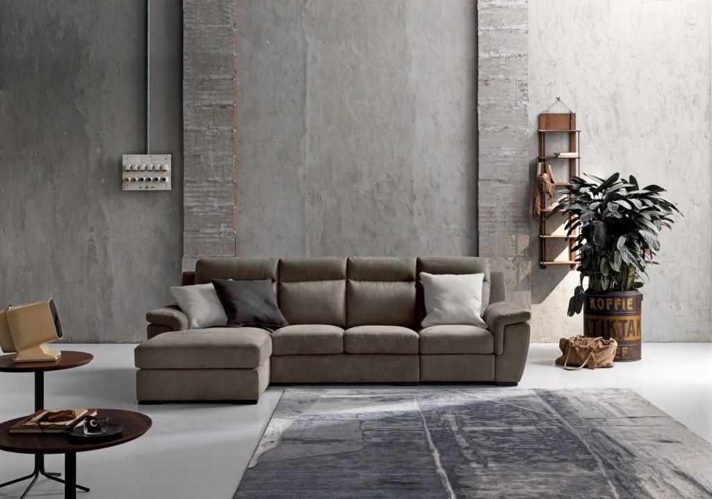 divano angolare Socrate in pelle