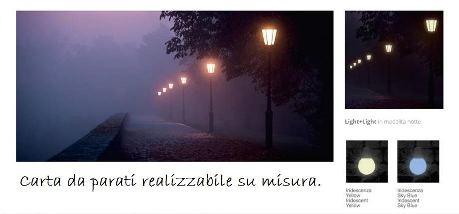 carta da parati con passeggiata al tramonto romantica.