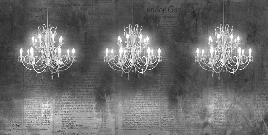 carta da parati con lampadari che s'illumina