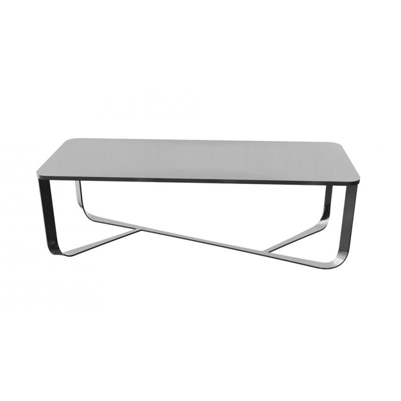 tavolo da soggiorno Confluence Pianca bianco con base cormata
