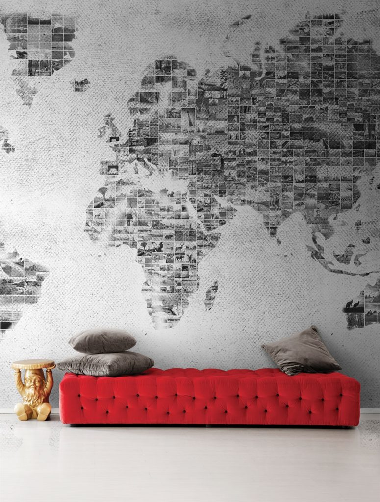 Non solo mobili cucina soggiorno e camera idee for Carta parati mondo