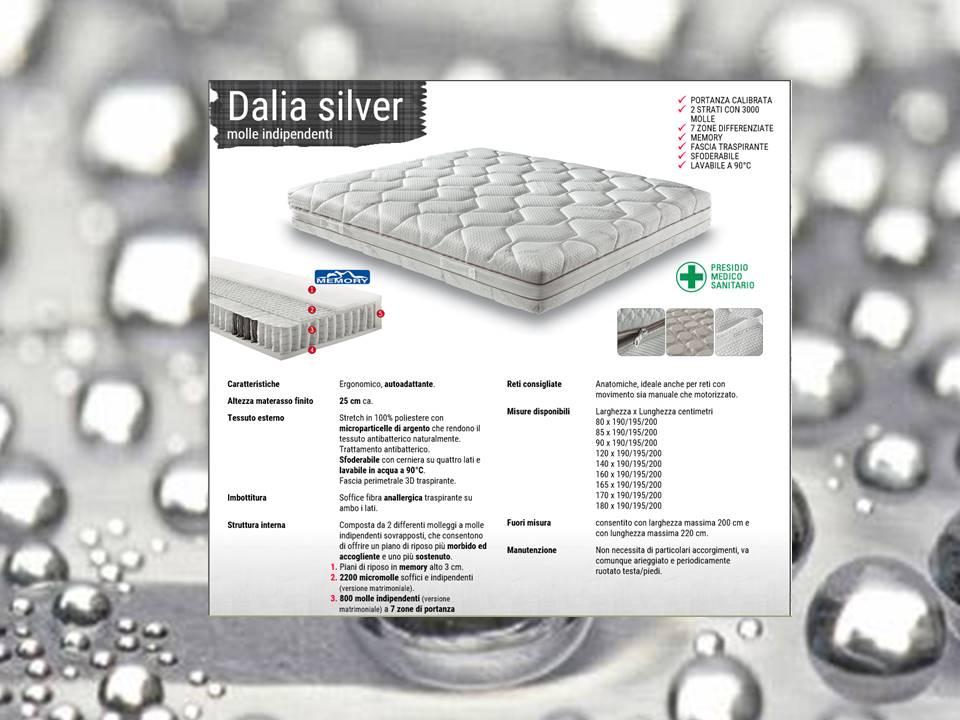materasso molle singole rivestimento silver