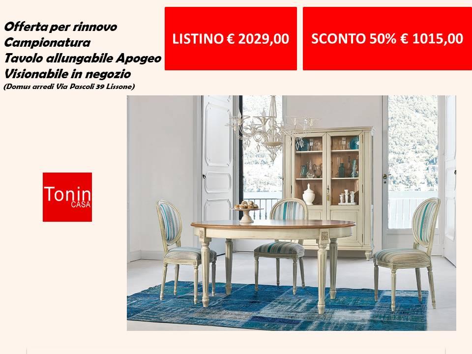 Tavolo allungabile apogeo Tonin casa linea classic