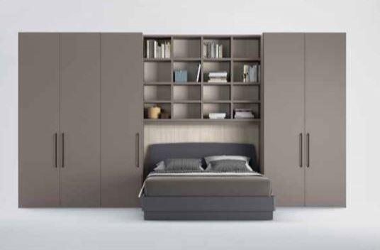 libreria aponte con letto matrimoniale
