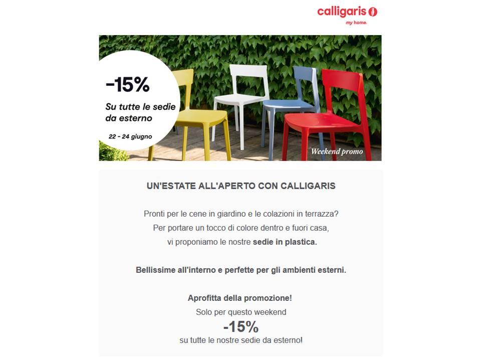 sconto 15% su Sedie Calligaris