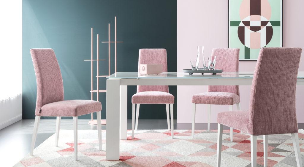 Tavolo modello Omnia glass e sedie Mediterranée  Calligaris