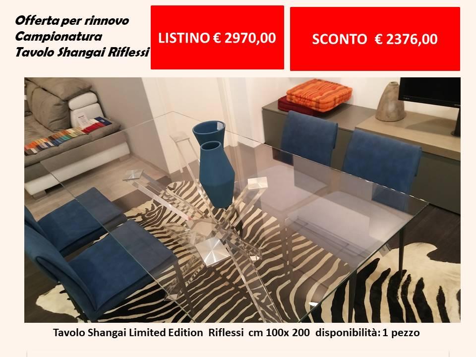 tavolo shangai limited edition cm 100 x 200 listino euro 2970 scontato a euro 2376