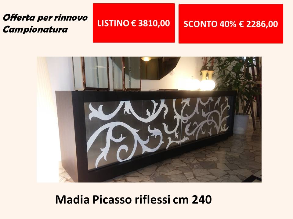 madia picasso riflessi sconto 40 per cento listino euro 3810 scontata euro 2286