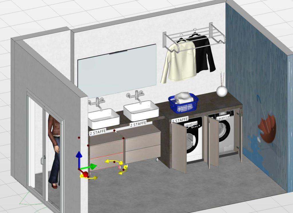 mobile per lavanderia e bagno