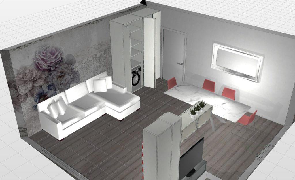 armadio porta lavatrice da soggiorno
