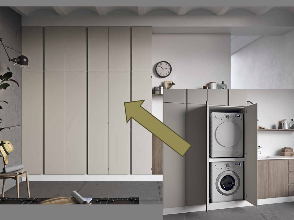 armadio per lavanderia su misura