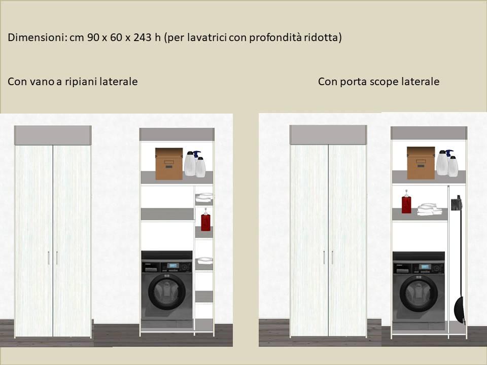 armadio porta lavatrice e asciugatrice per lavanderia